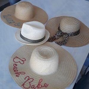 Summer beach straw hat collection